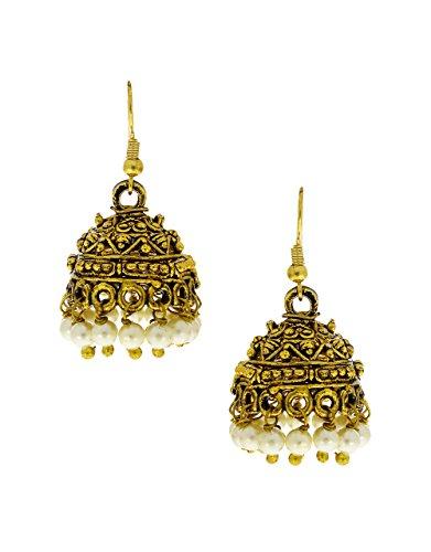 Anuradha Art Golden Colour Antique Designer Jhumki Earrings For Women/Girls  available at amazon for Rs.125