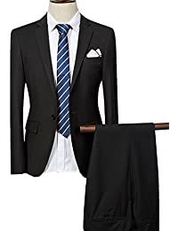 Costume Homme Deux-Pièces Slim Fit pour Business Mariage Formel Elégant  Classique veste et pantalon a7efdcc990ed
