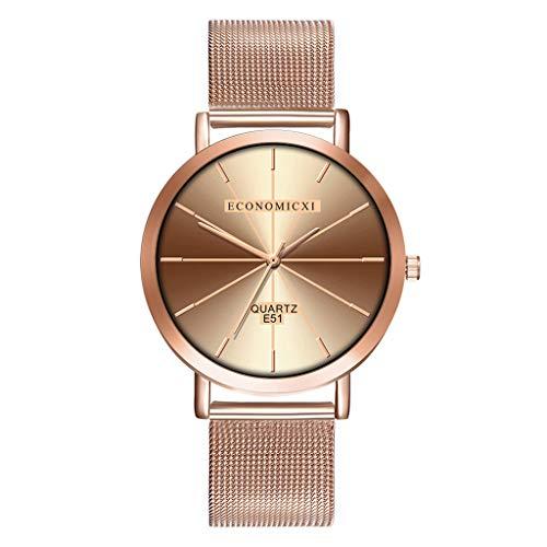 Ausverkauf  Damen Klassisch Uhren Analog Quarz Armbanduhren Minimalistisch mit Mesh-Metallarmband Ultradünne Fashion Retro Quarz Analoges Uhr Armband LEEDY
