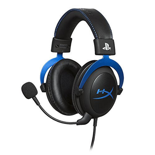 HyperX HX-HSCLS-BL Cloud for PS4 - Gaming Kopfhörer für PS4 mit In-Line Audio Control
