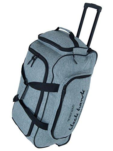 TRAVEL BAG-TROLLEY, Roll-Reisetasche, Sport-TROLLEY, Mega-Volumen-Reisetasche, (Hellgrau)