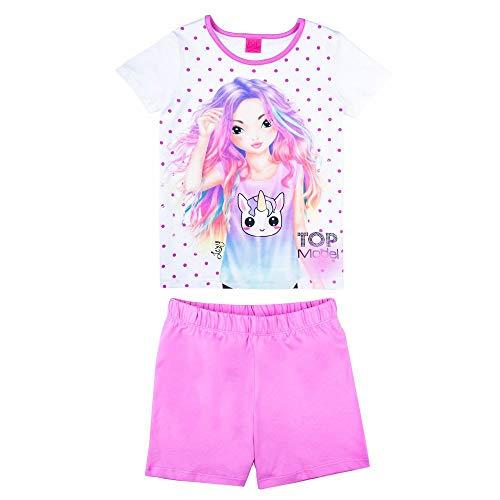 Topmodel Schlafanzug kurzarm Gr.128-164 pink Shorty Pyjama Nachtwäsche neu!, Größe:152