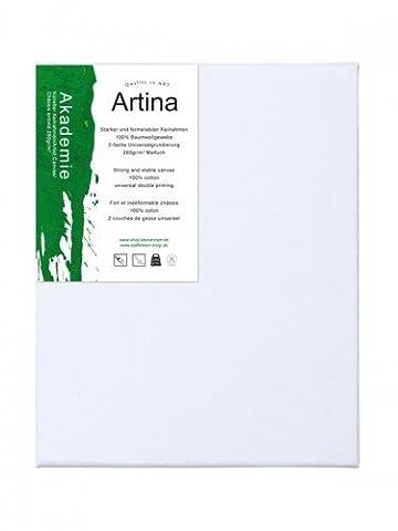 Artina - Châssis entoilé - Toile à peindre - Akademie - Apprêtée 2 fois - 24x30cm - 280g/m²