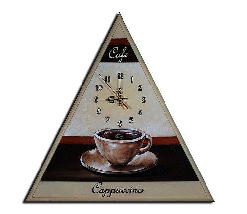 Bilderdepot24 Wanduhr - Kaffee Cappuccino - 50x50cm M 26 - Cappuccino Küchenuhr