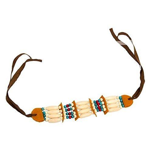 Folat Indianer Halskette mit Perlen und (Kostüm Mit Kopfschmuck Indianer)