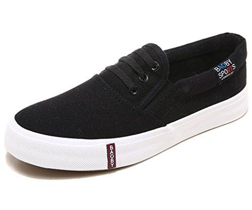 SHFANG Lady Shoes Un pedale Lazy shoes Movimento telaio Confortevole Tempo libero Studenti Scuola Daily Shopping Black