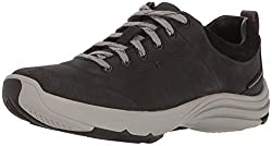 Clarks Womens Wave Andes Walking Shoe, Black Nubuck, 10 W US
