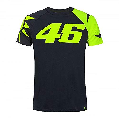 Valentino Rossi Vr46 Classic-Sole e Luna, T-Shirt Uomo, Blu, S