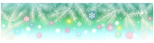 dpr. Fensterbild Zweige Schneeflocken mit irisierendem Glimmer Winter Fenstersticker Fensterdekoration Weihnachten
