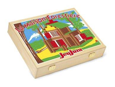 JeuJura - 8007 - Jouet en bois - construction - La Maison forestière- 135 pièces en coffret bois