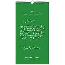 Wetzstein Gedichtekalender 2015