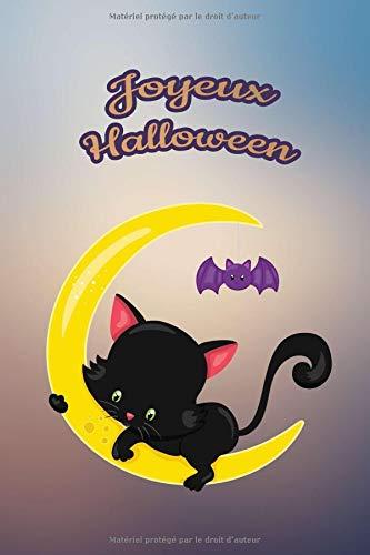Joyeux Halloween: Pour nos petits : Petit carnet de notes de 121 pages blanches avec couverture et pages sur le thème d'Halloween