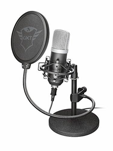 Trust Emita Professionelles USB Studio Mikrofon schwarz