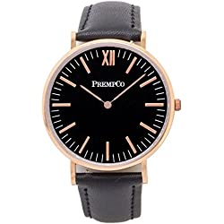 Prempco - Nobel - Ladies Watch - Black/Rose Gold - Quick Change Watch Wrist Band in Black