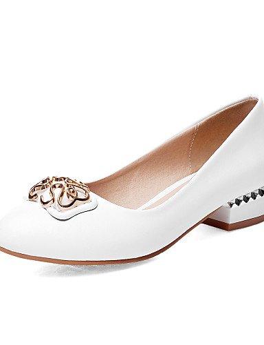 WSS 2016 Chaussures Femme-Bureau & Travail / Décontracté-Noir / Rose / Blanc / Beige-Gros Talon-Confort / Bout Arrondi-Chaussures à Talons- pink-us7.5 / eu38 / uk5.5 / cn38