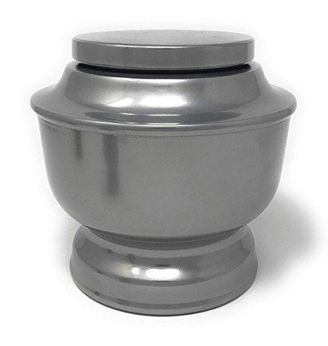 SMAR.T smartchoice Classic Beerdigung Urne für Echthaar Asche Eine Vielzahl von Farben erhältlich Erwachsene Urne mit Samtbeutel Silber - Uhr Pate