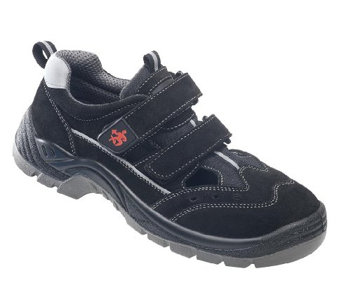 BAAK, 8424, Scarpe di sicurezza S1P sandali sicurezza Henry industriale BGR 191 Taglia 41, nero
