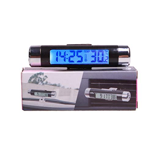 Preisvergleich Produktbild Tree-on-Life 2 In 1 Auto Fahrzeug LCD Digitale Hintergrundbeleuchtung Automotive Thermometer Uhr Kalender Display Auto Air Vent Outlet Clip-on Clock