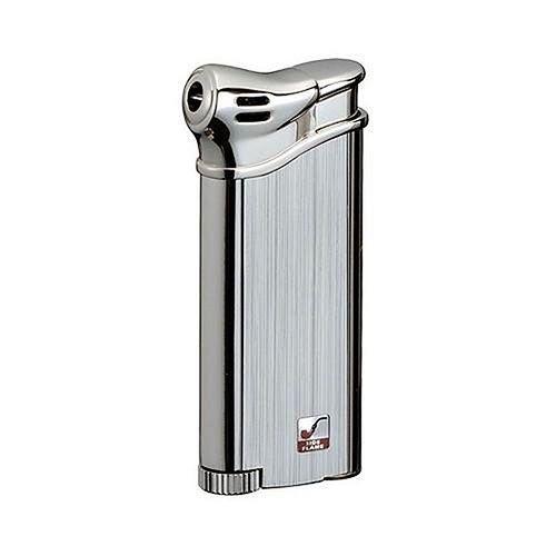Feuerzeug Sarome PSP 3-10 für Pfeifen aus Chrom gebürstet in silber matt