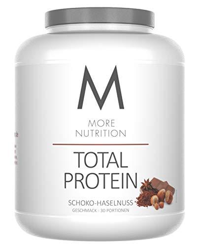 More Nutrition Total Protein - Whey & Casein Zur Optimalen Proteinsynthese 1 x 1500 g (Schoko Haselnuss)