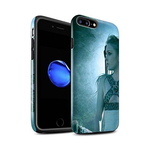 Officiel Elena Dudina Coque / Brillant Robuste Antichoc Etui pour Apple iPhone 8 Plus / Félins/Léopard/Guerrier Design / Les Animaux Collection Félins/Léopard/Guerrier
