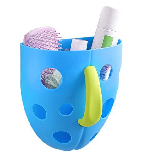 ToWinle Kids Baby Bad Tidy Spielzeug Lagerung Organizer Kinder Badezimmer Ablage Korb Kinder Saugnapf Aufbewahrung Organizer Badewannenspielzeug Aufbewahrungsbox (Blau)