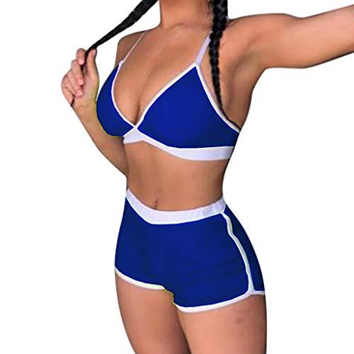 Elecenty Damen Sport Bikini-Sets,Frauen Push-Up 2019 Vest Bikinioberteile Bademode Bikini am Strand Badeanzüge