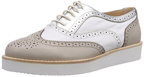 Great Buy for Samsonite Shoes Women's ATENE LOW 1570 LEATHER/LEATHER GREY/WHITE Brogue Lace-Up Half Shoe Gray Size: 3.5 on Amazon