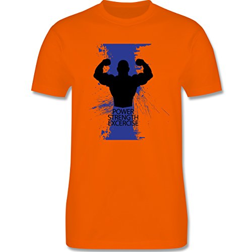 CrossFit & Workout - Power Strength Exercise - Herren Premium T-Shirt Orange
