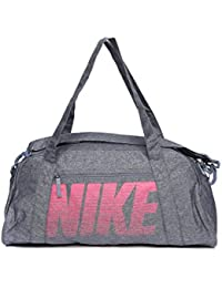 ab1f94b0ccc2 Nike Women s Grey Polyester Gym Club Training Duffel Bag (Ba5490-455)