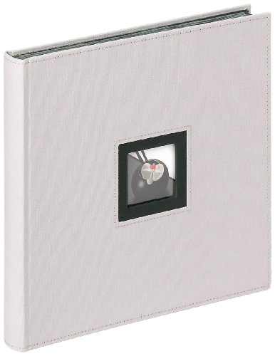 Walther design fa-217-d album da incollare, lino, grigio, 30 x 4 x 30 cm