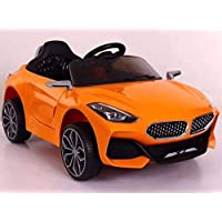 IOS toys Z4 Electric Ride on Car for Kids with Rechargeable 12V Battery, Music, Lights and Swing (Orange)