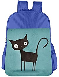 Black Cat Children School Backpack Carry Bag For Teens Boy Girls
