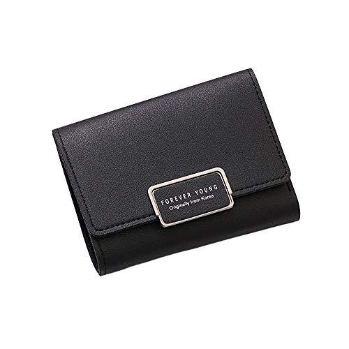 Frau Brieftasche Klein Reißverschluss Multi Karte Position Leder Münze Geldbörse Karte Halter Telefon Schlüssel Kette Geschenk elegant Party elegant zuversichtlich ()