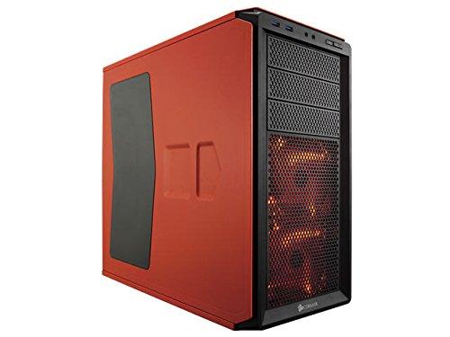 Corsair Graphite 230T Boîtier PC Gaming (Moyenne Tour Compact ATX avec deux Rouge LED Ventilateur) Orange