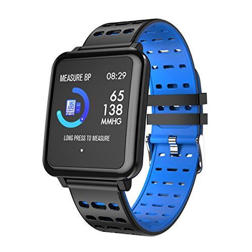 LWPCP Smart-Armband, 1,3 Zoll Farb-IPS-Farbbildschirm Herzfrequenz Blutdruck Schlaf Multisport-Modus Bluetooth Wasserdicht Fitness Tracker 3 670 Gps