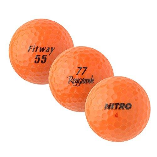 PearlGolf 25 Marken Mix - AAAA - orange - Lakeballs - gebrauchte Golfbälle