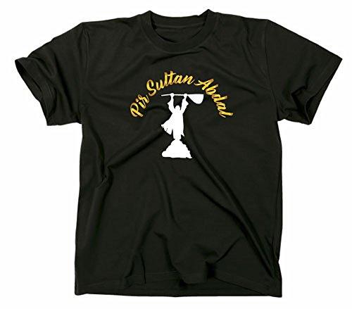 #1 Pir Sultan Abdal Logo T Shirt, Pirsultan Alevi Derwisch Aleviten Sufi Sufismus, L, schwarz