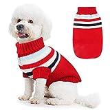 Felpa Cane,Idefair Cappotto Cane Inverno Caldo Maglieria Vestiti per Cani e Gatto di Taglia Medio Piccola (M, Rosso)