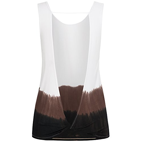 lilikoi Mujer Yoga Lifestyle Sport Rainbow Camiseta Top bambú blanco, mujer, color Weiss, tamaño extra-large