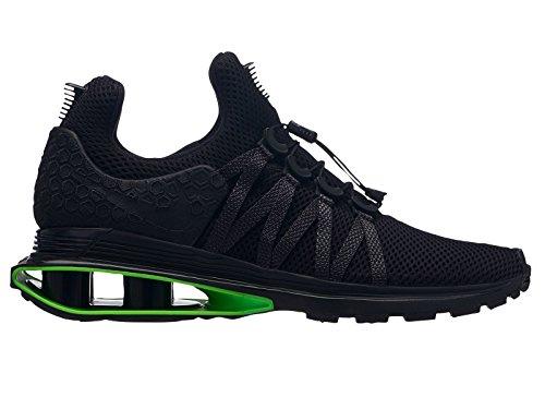 Nike Men's Shox Gravity Black/Black/Black Nylon Running Shoes 10 D(M) US