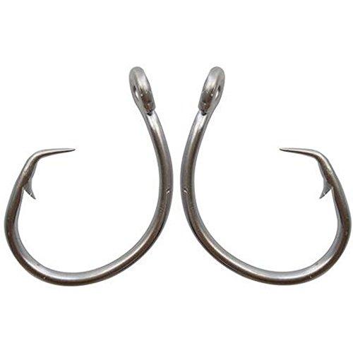 Shaddock pesca® 30pcs 39960in acciaio inox Pesca Ganci Bianco Spessore Tonno Circle Esca Esche da Pesca Gancio Set Per Acqua Salata e Acqua dolce Pesca alla Carpa taglia 8/0-15/0, 8/0-30PCS