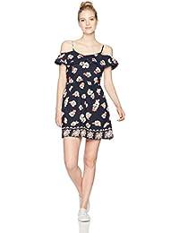 Angie Women's Ruffle Top Sleeveless Floral Dress Sundress