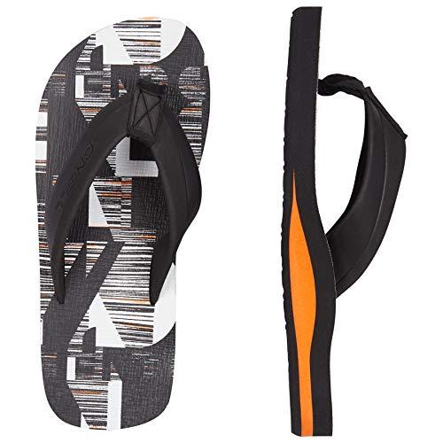 Jungen-bedruckte Flip-flops (O'Neill Jungen FB Imprint Pattern Sandals Zehentrenner, Schwarz (Black AOP W/White 9910), 32 EU)