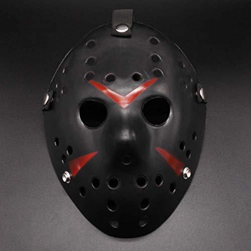 OOCO Halloween Kostüm Maske Maskerade Verdicken Jason Maske Lustige Streichmaske Freitag Die 13. Hockey Maske Für Kinder,H (Halloween Hockey Kostüm Kinder)