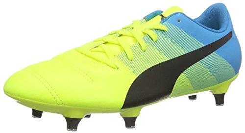 Puma - Evopower 4.3 Sg, Scarpe da calcio Uomo Giallo (Gelb (safety yellow-black-atomic blue 01))