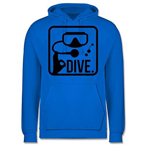 Wassersport - Dive. - Männer Premium Kapuzenpullover / Hoodie Himmelblau