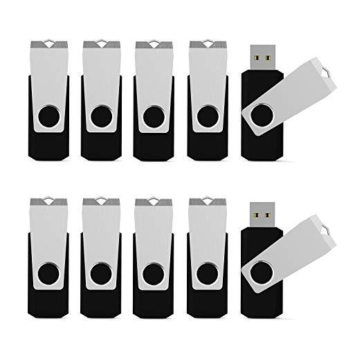 KEXIN 10 Stück USB Stick 16GB USB 2.0 Speicherstick USB Memory Flash Drive (16GB*10PCS, Schwarz) - 16g 16 Gb Usb