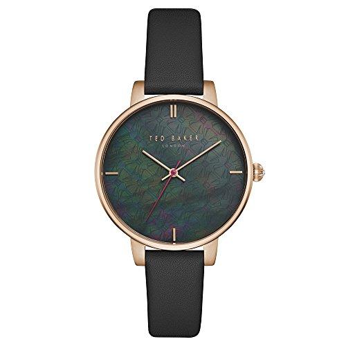 Ted Baker Damen Analog Quarz Uhr mit Leder Armband TEC0025001