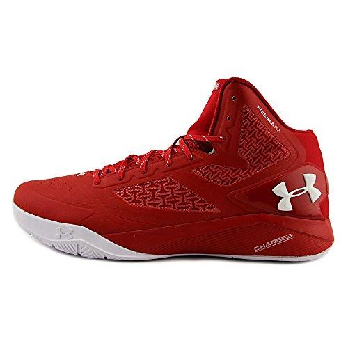 free shipping 6360d 42262 ... uk under armour clutchfit drive 2 basketball scarpe rouge métallique  argent blanc fd1d5 fee97